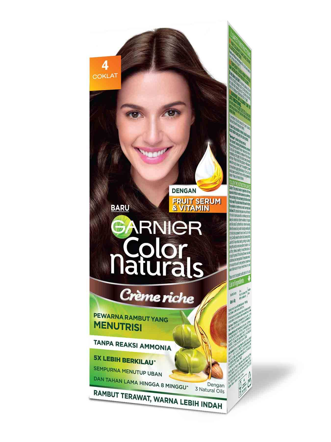 garnier color naturals creme riche 4 coklat brown